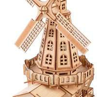 Wooden Dutch Windmill 3D Puzzle
