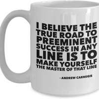 Andrew Carnegie Quote Mug
