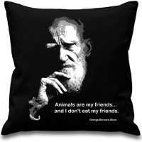George Bernard Shaw Sofa Cushion