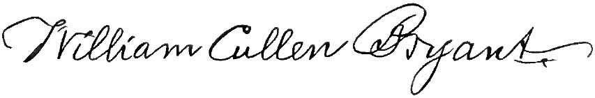 William Cullen Bryant Signature