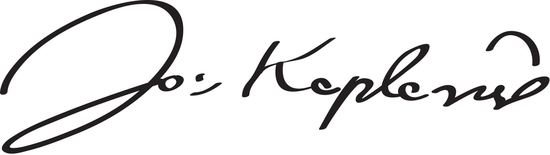 Johannes Kepler Signature