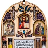 Catholic Home Blessing Wall Decor