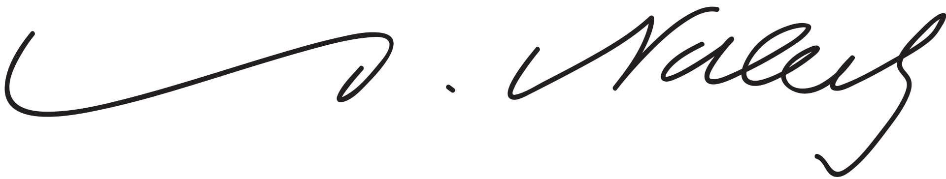 Alfred Nobel Signature
