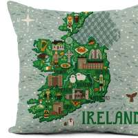 Map of Ireland Pillowcase