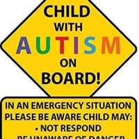 STICKY DUDE Child with Autism Awareness Car Truck Decal Sticker