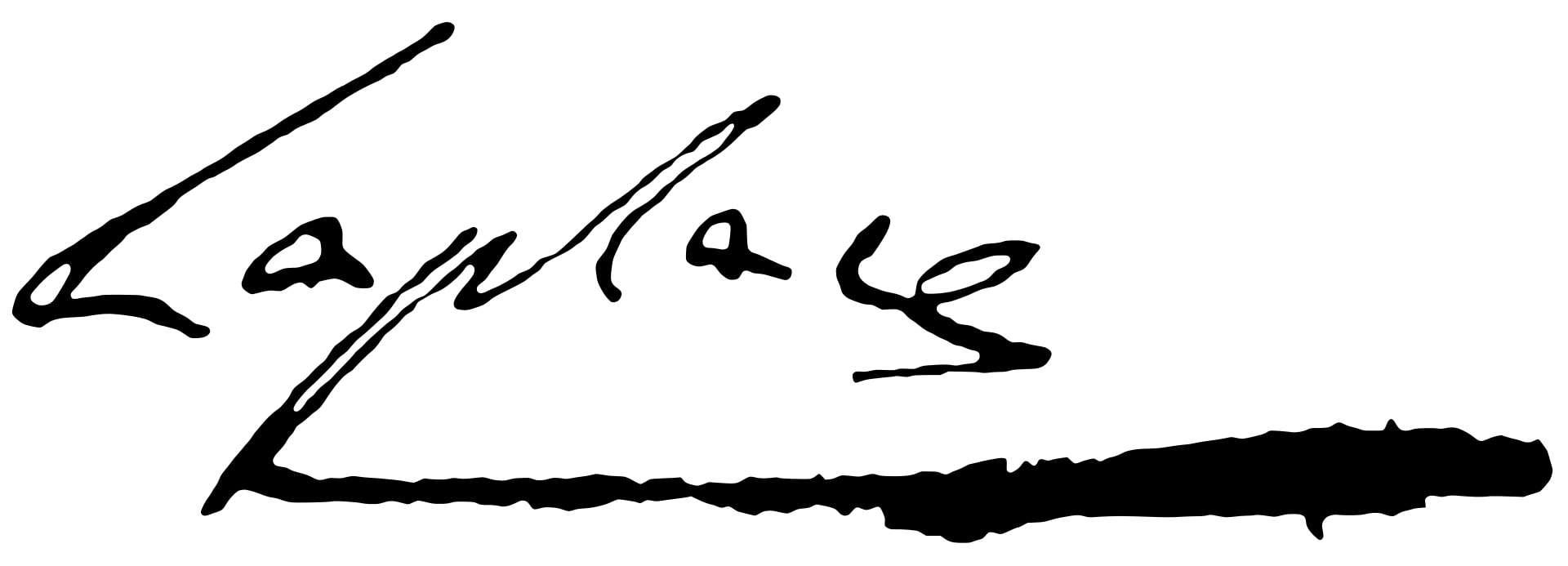Pierre-Simon Laplace Signature