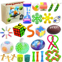 Scientoy Fidget Toy Set, 35 Pcs Sensory Toy for ADD, OCD, Autistic Children, Adults, Anxiety Autism to Stress Relief