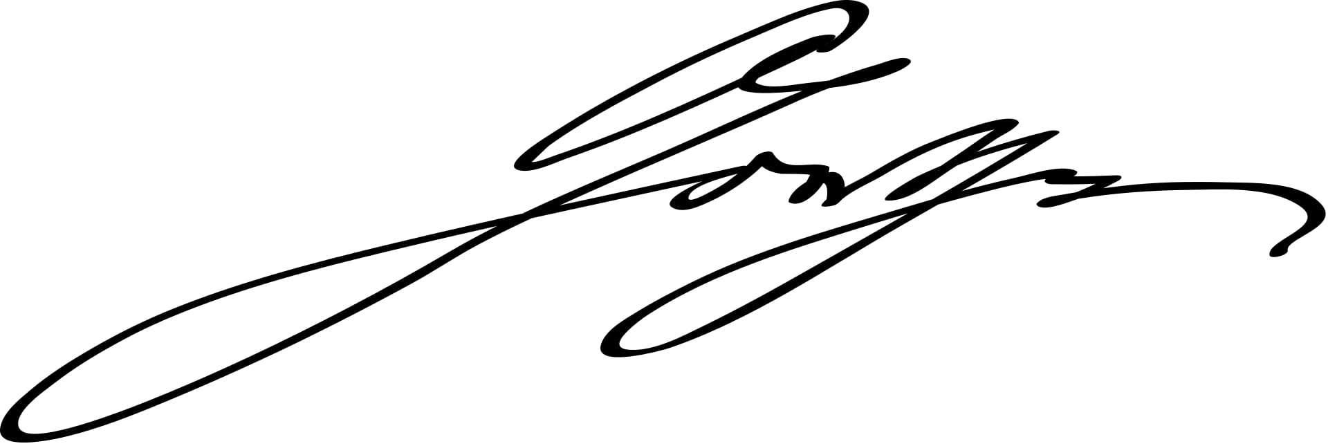 Johann Wolfgang von Goethe Signature