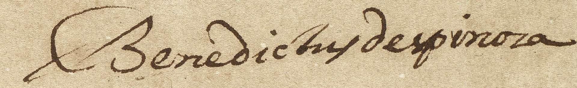 Baruch Spinoza Signature