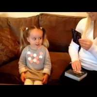 Brielle (3 years old) and the Periodic Table of Elements