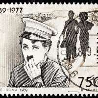 Charles Chaplin Postage Stamp Poster