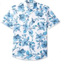 Blue Flower Print Shirt