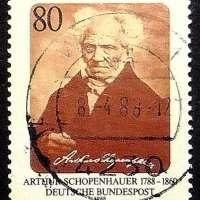 Arthur Schopenhauer Postage Stamp Art