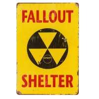 Fallout Shelter Vintage Metal Tin Sign