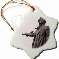 Alexander Pushkin Porcelain Ornament