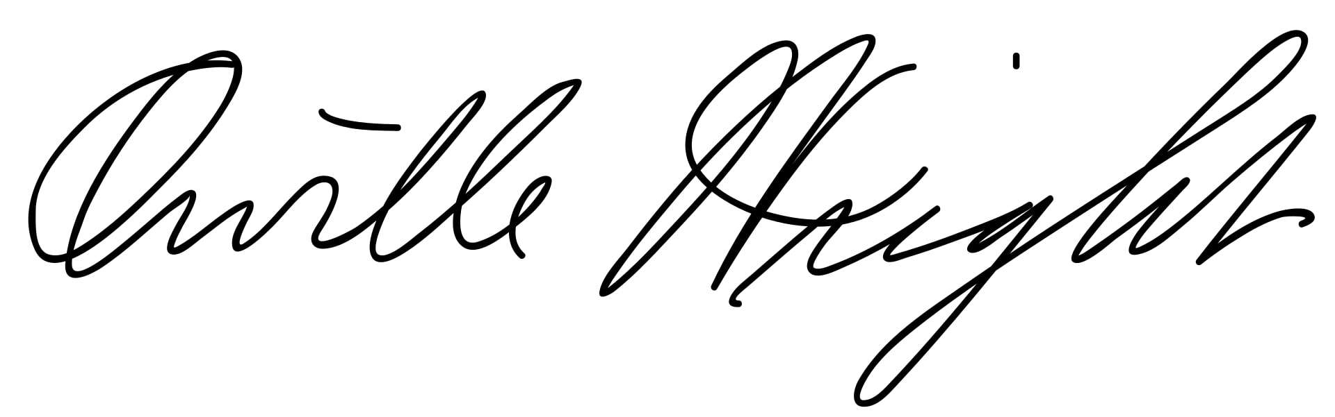 Wright brothers Signature