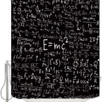Einstein Physics Formula Science Geek Waterproof Fabric Shower Curtain