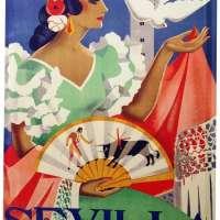 Spain Sevilla Flamenco Metal Plate
