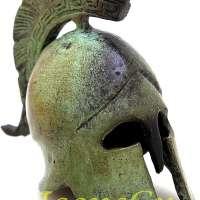 Ancient Greek Bronze Museum Replica of Athenian Helmet