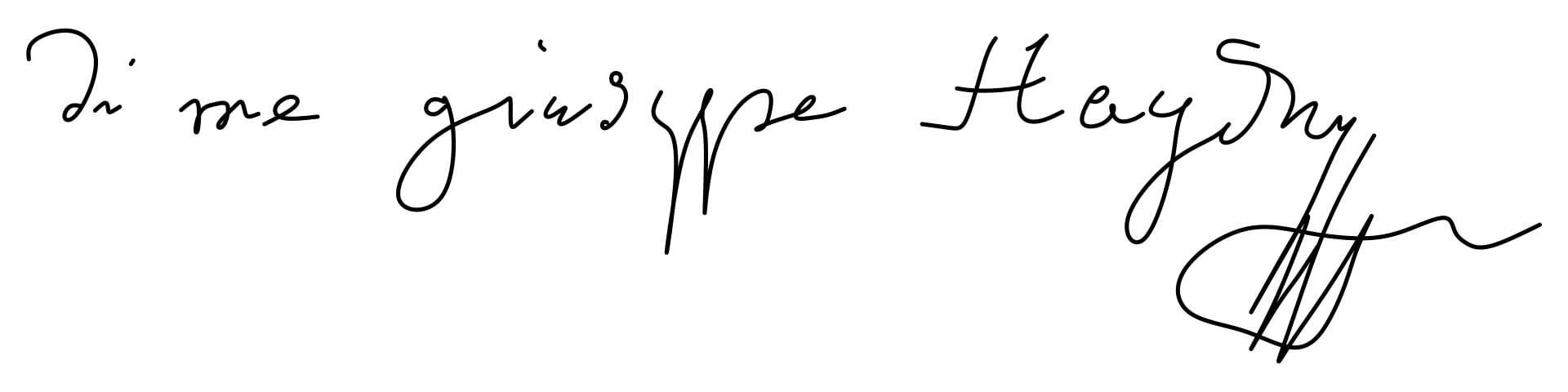 Joseph Haydn Signature
