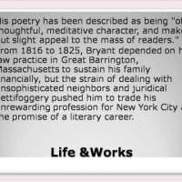William Cullen Bryant Life & Works