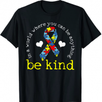 Autism Awareness Kindness Ribbon Heart T-Shirt