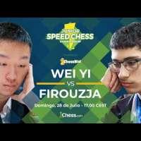 Match de ajedrez Wei Yi vs Firouzja | Junior Speed Chess Championship