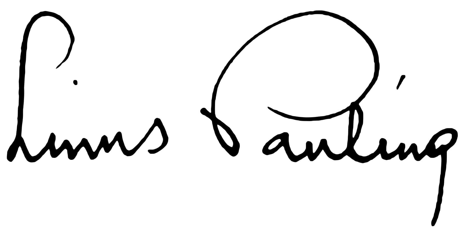 Linus Pauling Signature