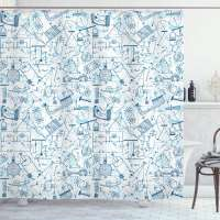 Physics Themed Shower Curtain