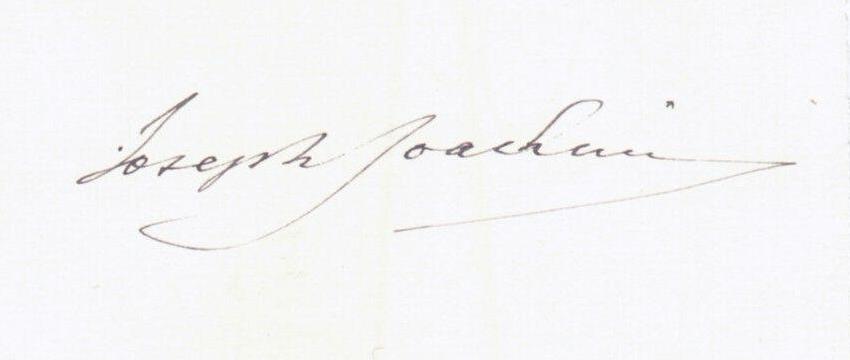 Joseph Joachim Signature