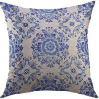 Dutch Floral Throw Pillow Cover