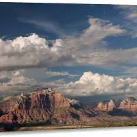 Geological Formations On Canvas Modern Wall Art