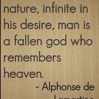 Alphonse de Lamartine Wooden Plaque