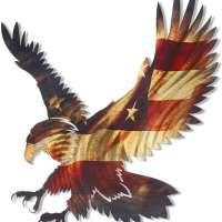 Bald Eagle American Flag Wall Decor