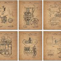Ford Patent Prints - Set of 6