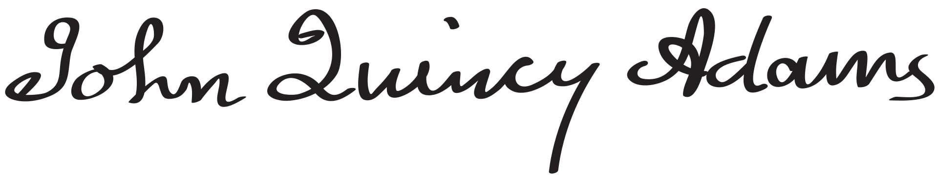 John Quincy Adams Signature