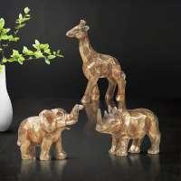 Giftchy Elephant, Giraffe & Rhinoceros Figurines Set