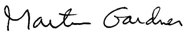 Martin Gardner Signature