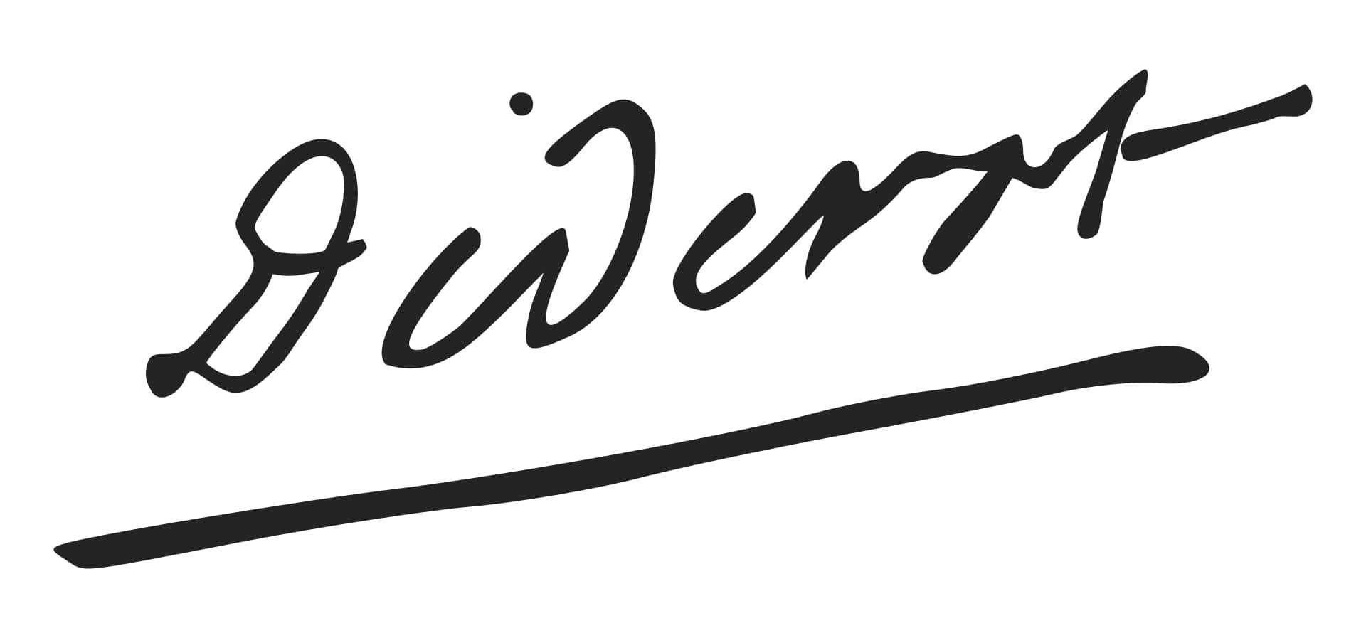 Denis Diderot Signature