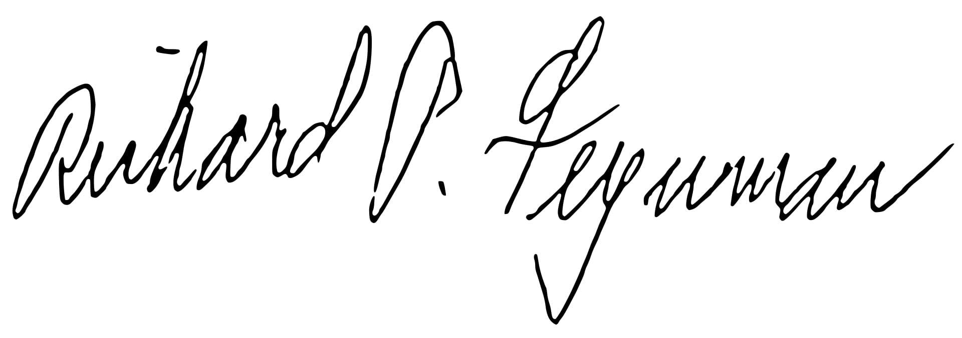 Richard Feynman Signature