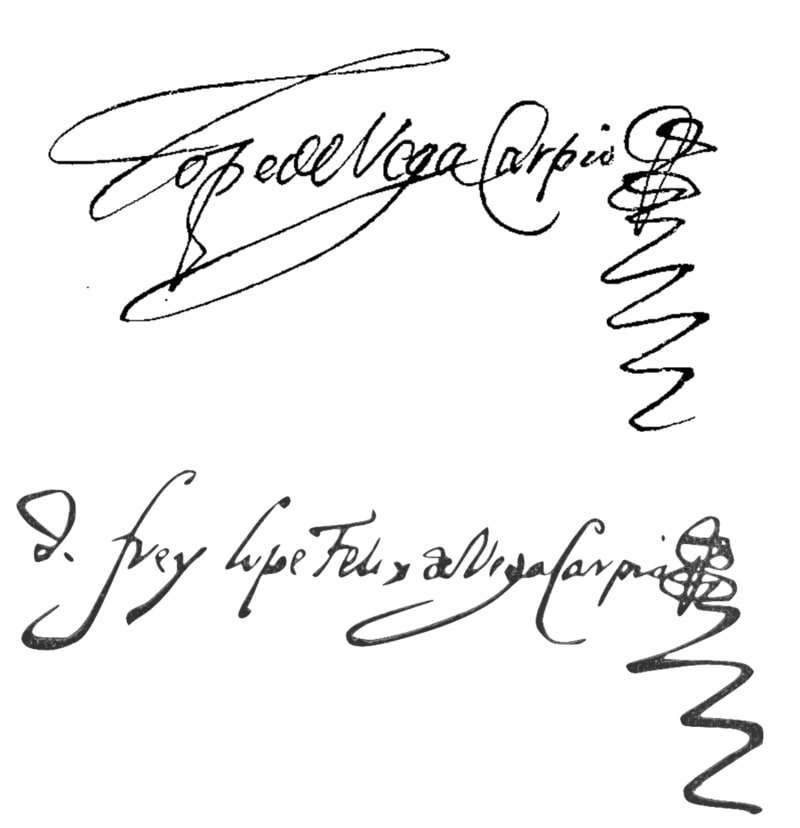 Lope de Vega Signature