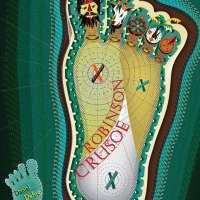 Robinson Crusoe Footprint Art Poster