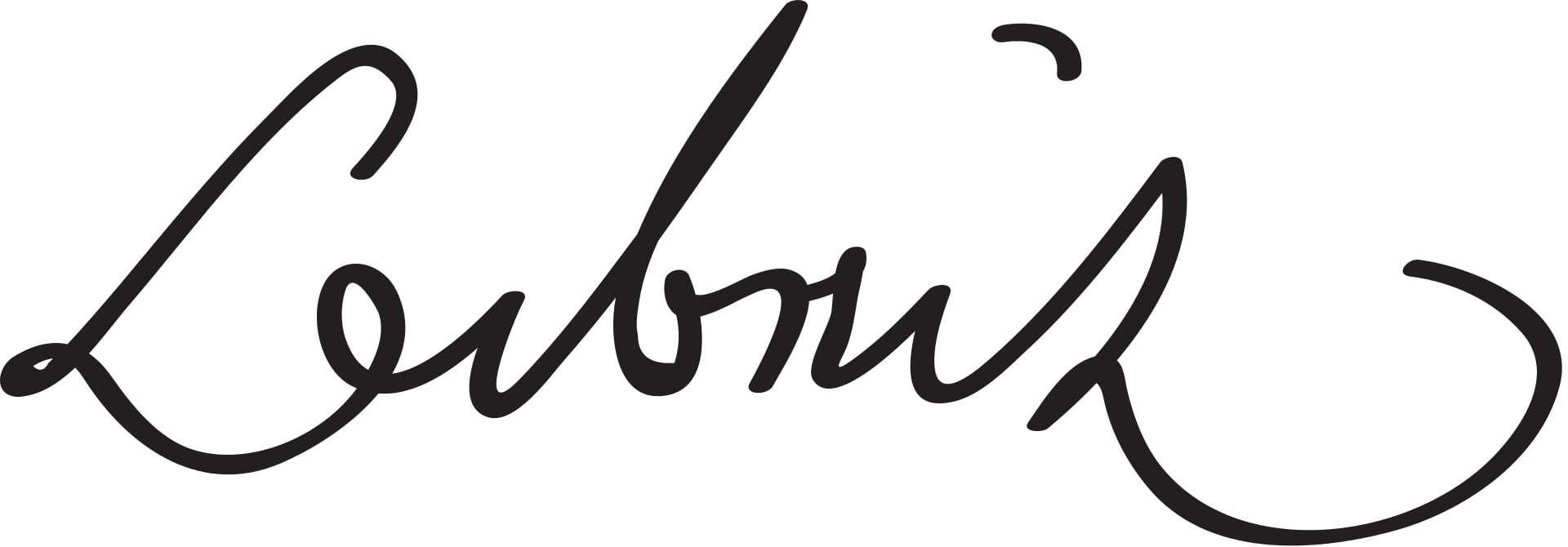 Gottfried Wilhelm Leibniz Signature