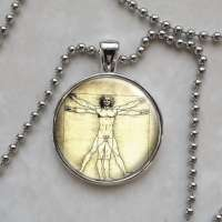 Vitruvian Man Leonardo da Vinci Pendant Necklace