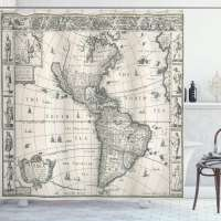 Ambesonne Atlas Shower Curtain