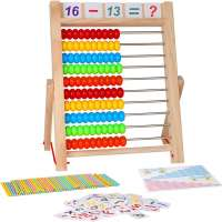 10-Row Wooden Frame Abacus
