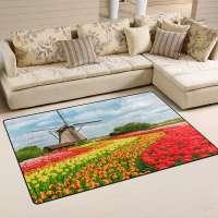 Dutch Tulips Area Rug Carpet
