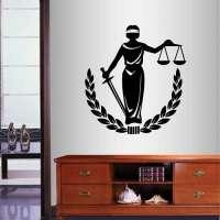 Lady Justice Wall Vinyl