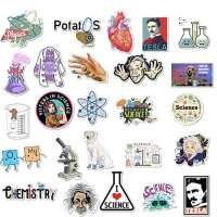 50pcs Laboratory Physics Chemistry Graffiti Stickers