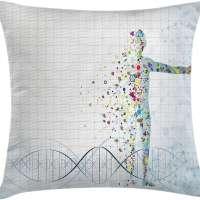 Ambesonne Human Anatomy Throw Pillow Cushion Cover